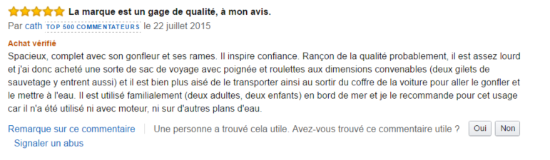 avis amazon intex excursion 3